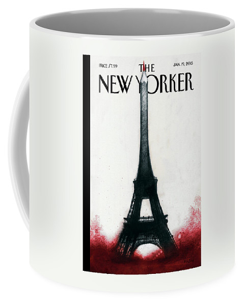 Charlie Hebdo Coffee Mug featuring the painting Solidarite by Ana Juan