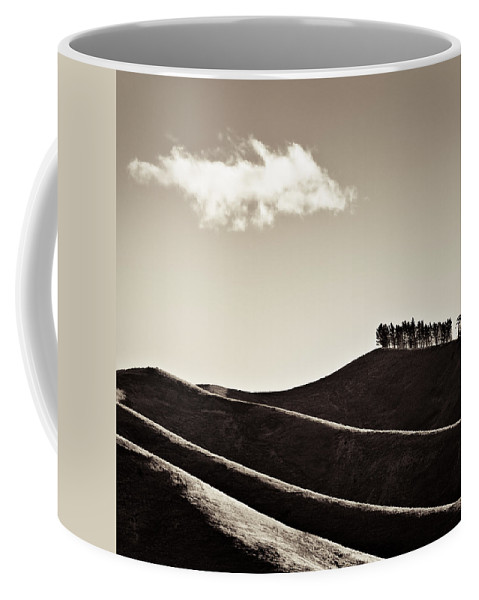 New Zealand Coffee Mug featuring the photograph Solitary Cloud by Dave Bowman