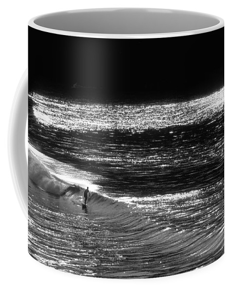 Surfers Photographs Coffee Mug featuring the photograph Solitary Glass by Sean Davey