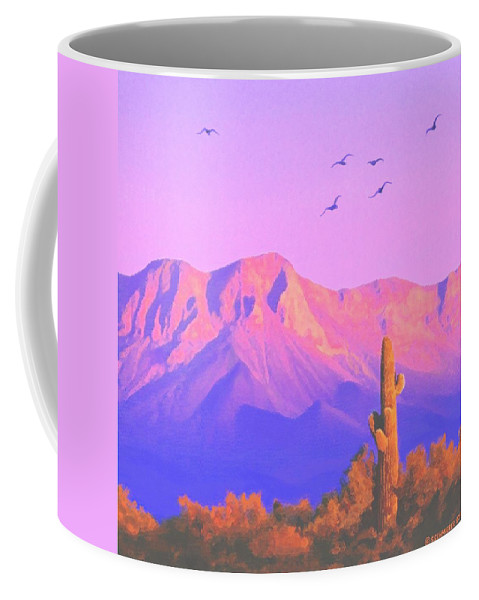 Landscape Coffee Mug featuring the painting Solitary Silent Sentinel by Sophia Schmierer