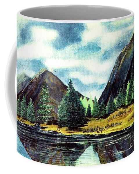 Fine Art Coffee Mug featuring the painting Solitude by Patricia Griffin Brett