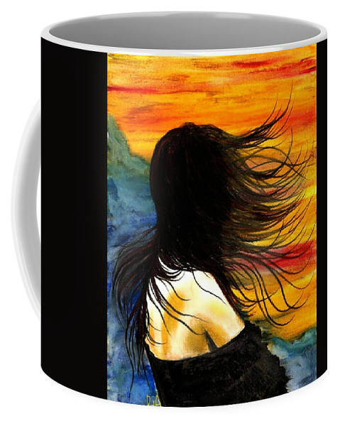 Beautiful Coffee Mug featuring the photograph Solo Mood by Artist RiA