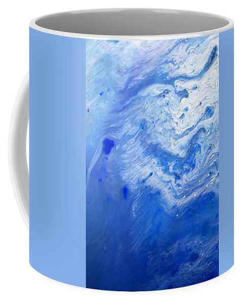 Blue Sky Coffee Mug featuring the mixed media Some Kind Of Blue by Kume Bryant