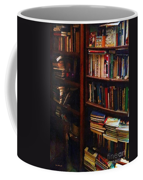Books Coffee Mug featuring the painting Some Of My Best Friends by RC DeWinter