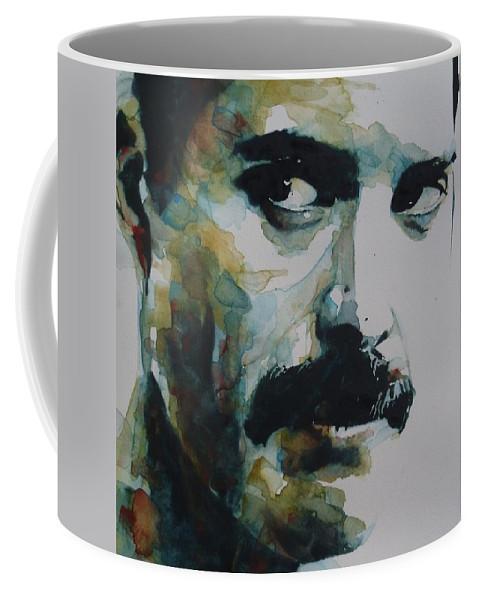 Queen Coffee Mug featuring the painting Freddie Mercury by Paul Lovering