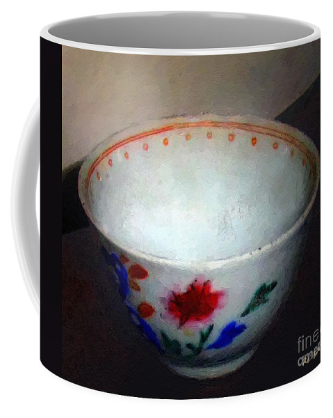 Antique Coffee Mug featuring the painting Somebody's Old Bowl by RC DeWinter