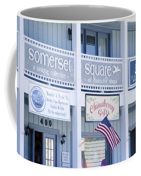 Somerset Coffee Mug featuring the painting Somerset Square 1 by Jeelan Clark
