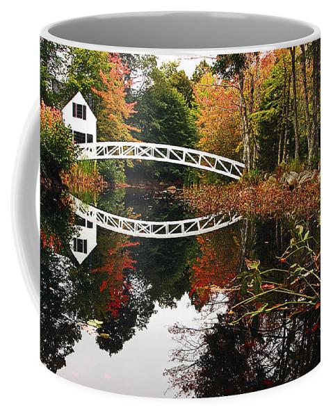 Somesville Coffee Mug featuring the photograph Somesville Bridge by Marcia Colelli
