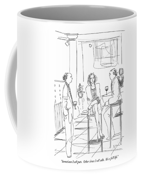 Puts And Calls Coffee Mug featuring the drawing Sometimes I Sell Puts. Other Times I Sell Calls by Richard Cline