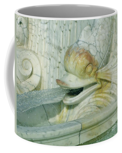 Sculpture Coffee Mug featuring the photograph Somewhat Fishy by Ann Horn