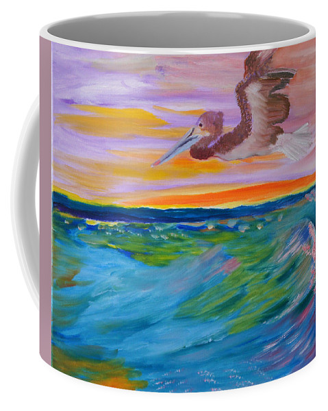 Pelican Coffee Mug featuring the painting Song Of The Sea by Meryl Goudey