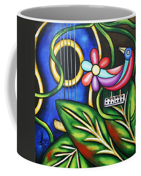 Cuba Coffee Mug featuring the painting Songbird by Annie Maxwell
