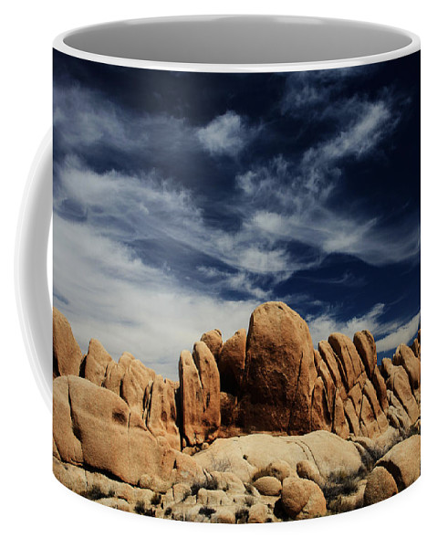 Joshua Tree National Park Coffee Mug featuring the photograph Songs Of Misery by Laurie Search