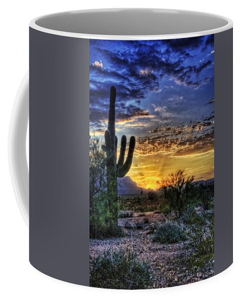 Sonoran Desert Coffee Mug featuring the photograph Sonoran Sunrise by Saija Lehtonen