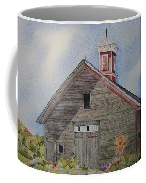 Farm Building Coffee Mug featuring the painting Soon To Be Forgotten by Mary Ellen Mueller Legault