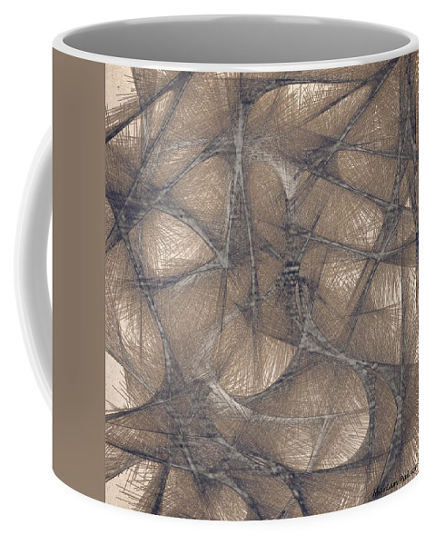 Calm Coffee Mug featuring the mixed media Soothing Colors by Marian Palucci-Lonzetta