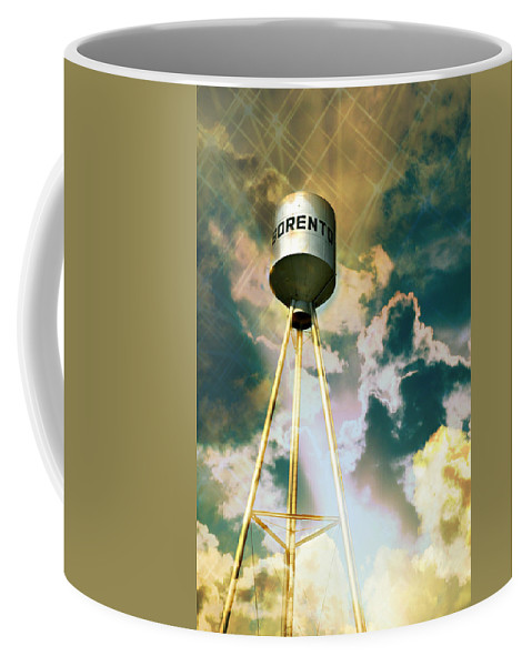 Water Tower Coffee Mug featuring the photograph Sorento Illinois Tower by Marty Koch