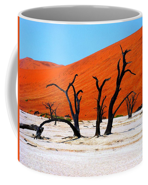 Trees Coffee Mug featuring the photograph Sossusvlei Scene by Noa Yerushalmi
