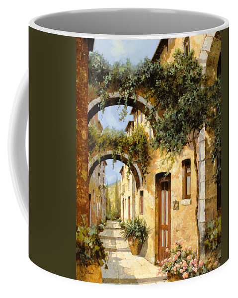 Arch Coffee Mug featuring the painting Sotto Gli Archi by Guido Borelli