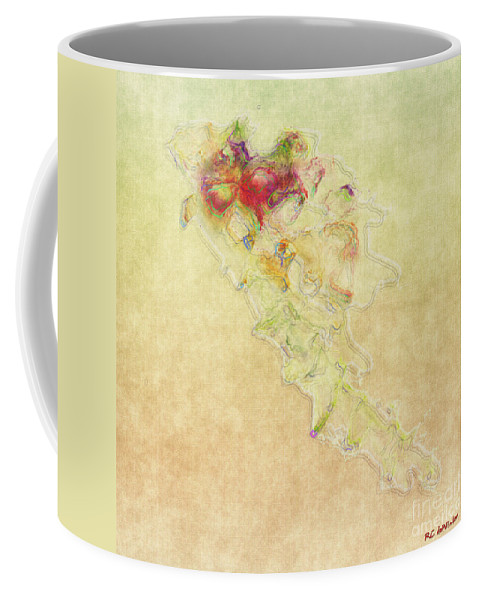 Abstract Coffee Mug featuring the painting Soul In Flight by RC DeWinter