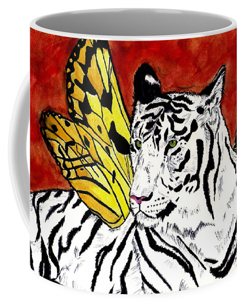 Tiger Coffee Mug featuring the painting Soul Rhapsody by Crystal Hubbard