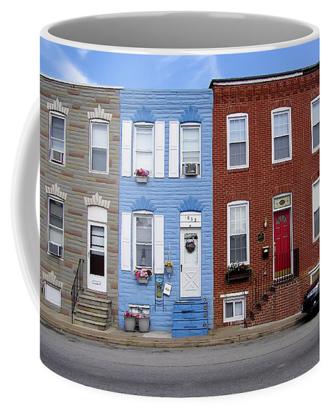 2d Coffee Mug featuring the photograph South Baltimore Row Homes by Brian Wallace