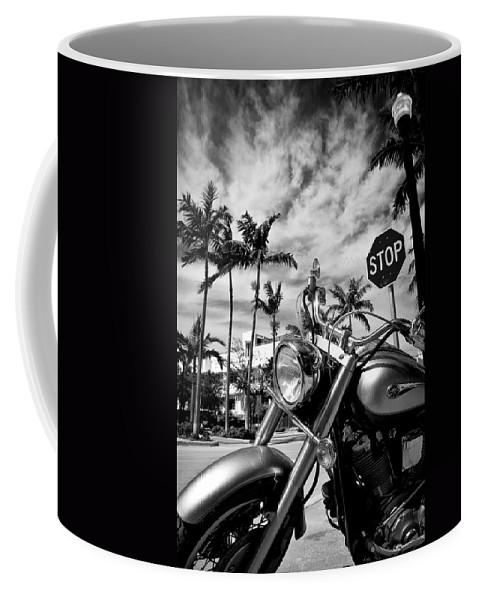 Bike Coffee Mug featuring the photograph South Beach Cruiser by Dave Bowman