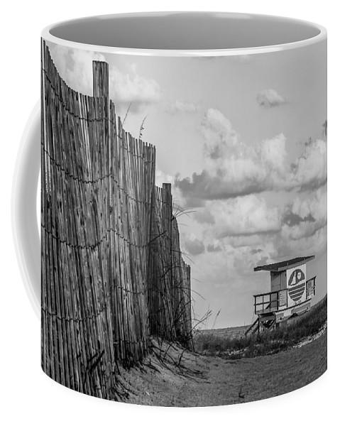 Miami Coffee Mug featuring the photograph South Beach Lifeguard Shack by Mike Burgquist