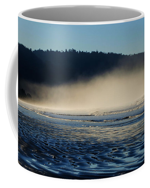 Landscape Coffee Mug featuring the photograph South Beach Morning by Anita Cumbra