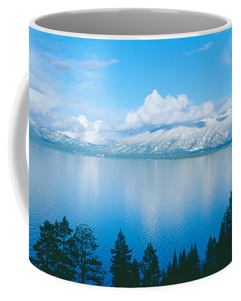 Photography Coffee Mug featuring the photograph South Lake Tahoe In Winter, California by Panoramic Images