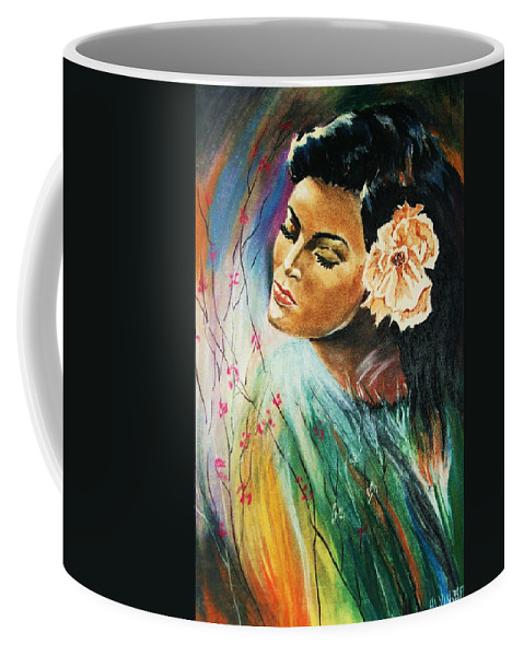 Portraits Coffee Mug featuring the painting South Sea Flower by Al Brown