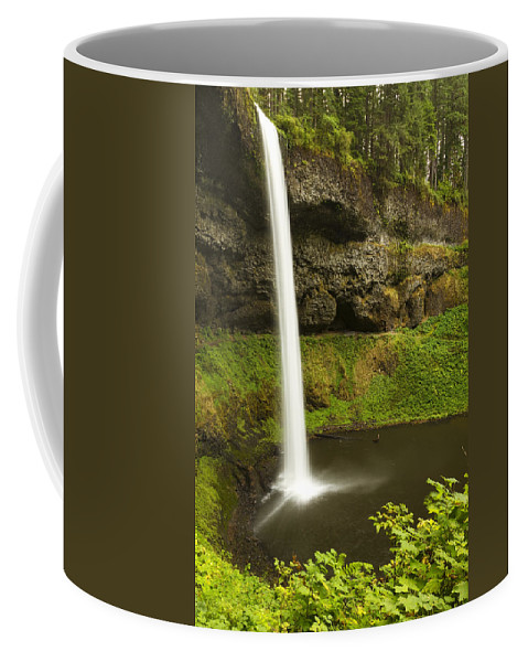 Water Coffee Mug featuring the photograph South Silver Falls 3 by John Brueske