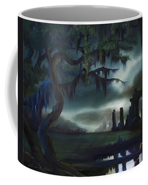 Sunrise Coffee Mug featuring the painting Southern Arch by James Christopher Hill