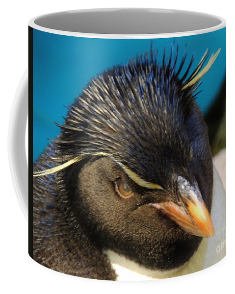 Wildlife Coffee Mug featuring the photograph Southern Rock Hopper Penguin by Paul Smith