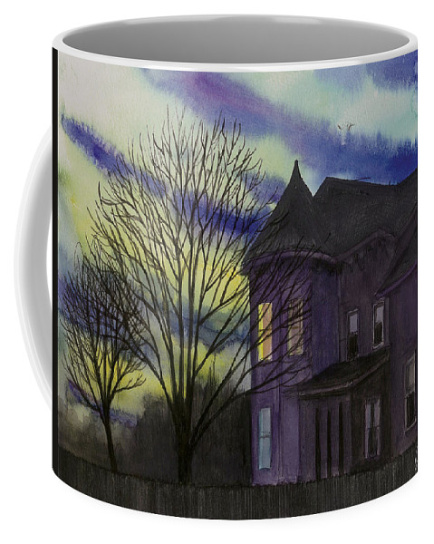 Sunset Coffee Mug featuring the painting Southern Victorian by Arthur Barnes