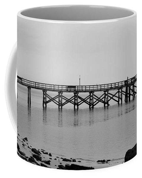 Southport Coffee Mug featuring the photograph Southport Fishing Pier by Cynthia Guinn