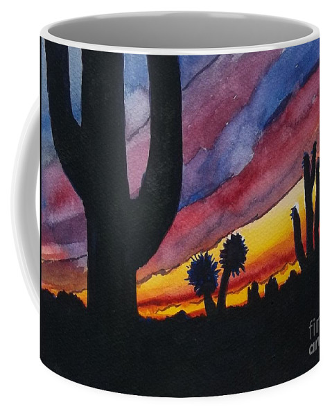 Cactus Coffee Mug featuring the painting Southwest Art by Don Hand