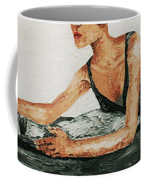Spacatto Coffee Mug featuring the painting Spacatto by Cris Motta