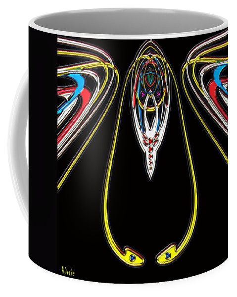 Insect Coffee Mug featuring the digital art Space Fly by Alec Drake