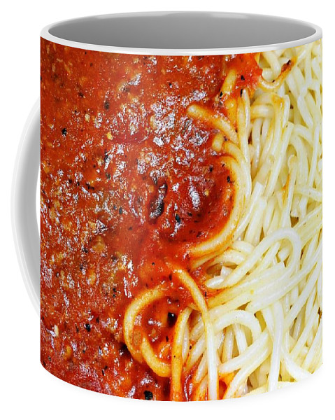 Meal Coffee Mug featuring the photograph Spaghetti by Diana Angstadt