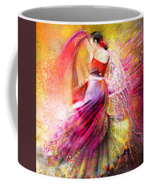 Flamenco Painting Coffee Mug featuring the painting Spain - Flamencoscape 12 by Miki De Goodaboom