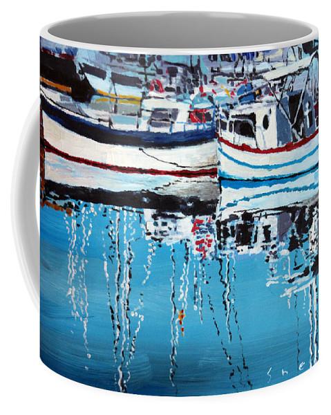 Acrilic Coffee Mug featuring the painting Spain Series 04 Cadaques Portlligat by Yuriy Shevchuk