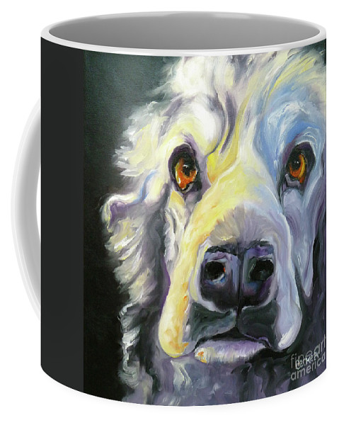 Dogs Coffee Mug featuring the painting Spaniel In Thought by Susan A Becker