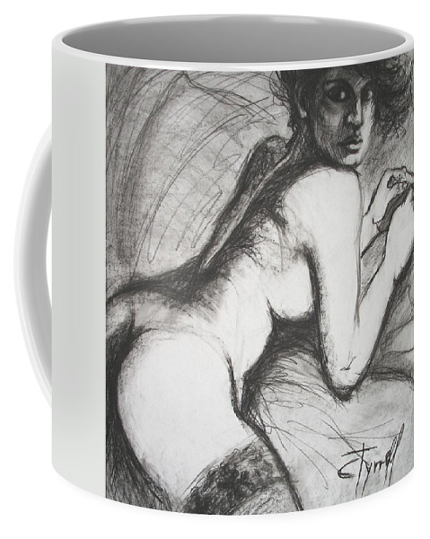 Original Coffee Mug featuring the painting Spanish Eyes by Carmen Tyrrell