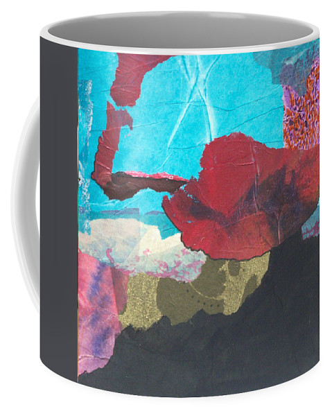 Collage Coffee Mug featuring the mixed media Spanish Nights by MtnWoman Silver