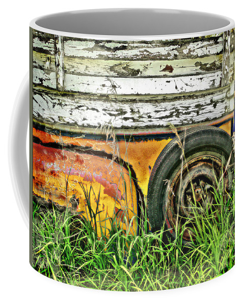 Truck Coffee Mug featuring the photograph Spared by John Anderson
