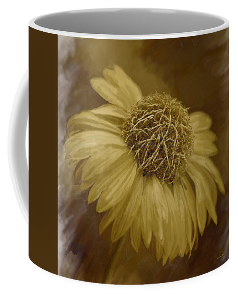 Daisy Coffee Mug featuring the painting Sparkling Daisy by Angela Stanton