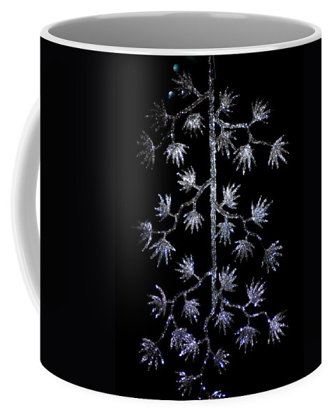 Optical Playground By Mp Ray Coffee Mug featuring the photograph Sparkling Diamond Snowflakes by Optical Playground By MP Ray