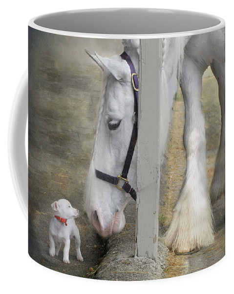 Horses Coffee Mug featuring the photograph Sparky And Sterling Silvia by Fran J Scott