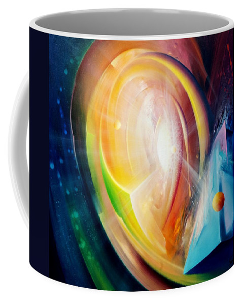 Sphere Coffee Mug featuring the painting Sphere B11 by Drazen Pavlovic